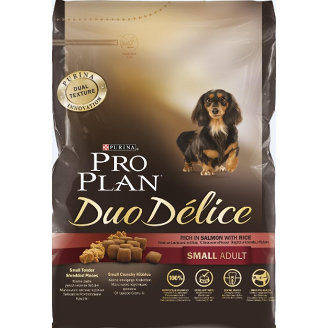 Pro Plan Duo Delice Small Adult корм д/с мелк.пород лосось/рис 700г